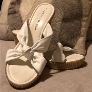 Athena Alexander white knot wedges